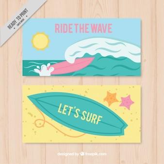 Баннеры с элементами для серфинга