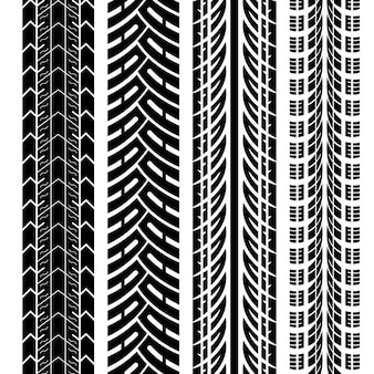 Баннеры с дизайном следа шин