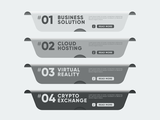 Banners with topics for website