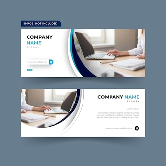Bannertemplate with circle shapes for facebook