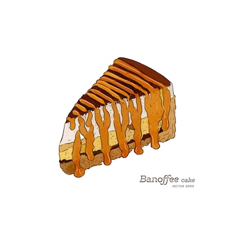 Banoffee pie vector illustration