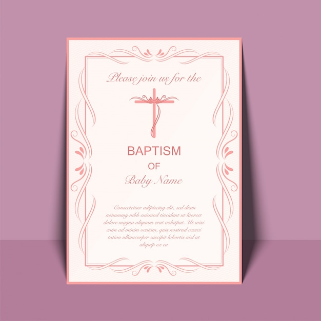 Baptism Invitation Vectors Photos and PSD files Free Download