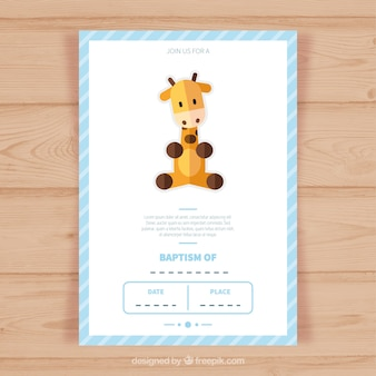 Template battesimo invitation card