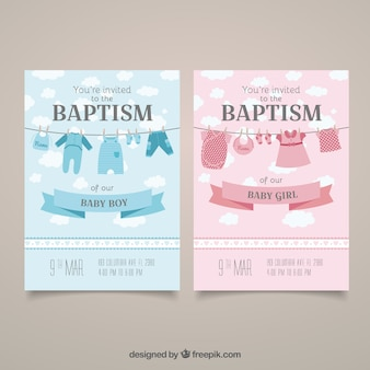 Baptism invitation cards