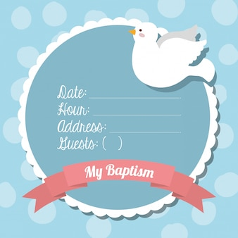 Baptism invitation design