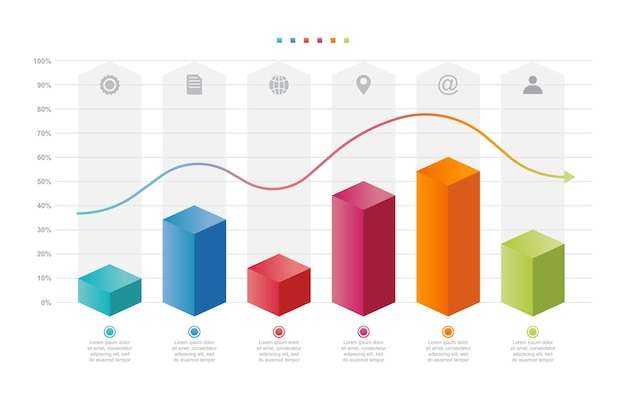 Bar chart graph diagram statistical business infographic element