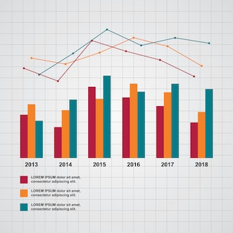 Bar chart graph diagram statistical business infographic