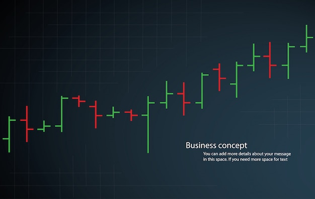 Bar chart graph stock exchange vector