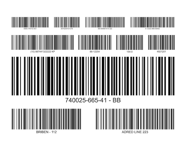 Bar code label price icon. barcode scanner inventory retail information tag.
