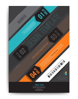 Bar gradient abstract vector background