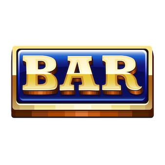 Bar icon isolated