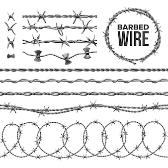 Barb wire collection with razor detail set