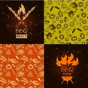 Barbacue backgrounds collection