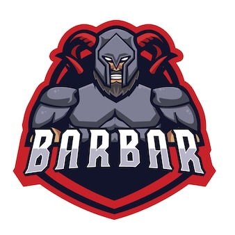 Barbar knight e sports logo
