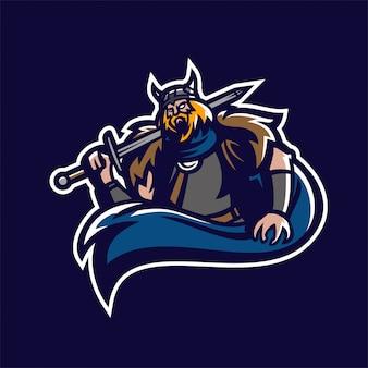Шаблон эмблемы эмблемы эмблемы варварского рыцаря viking esport