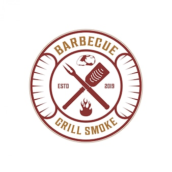 Barbecue badge for restaurant