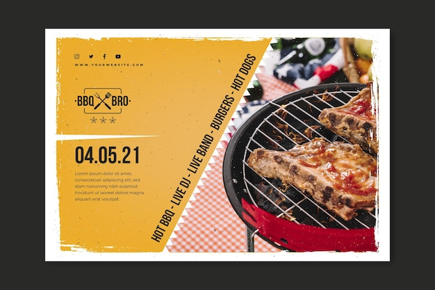 Barbecue banner template