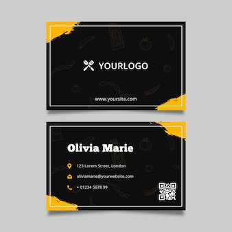 Barbecue business card template