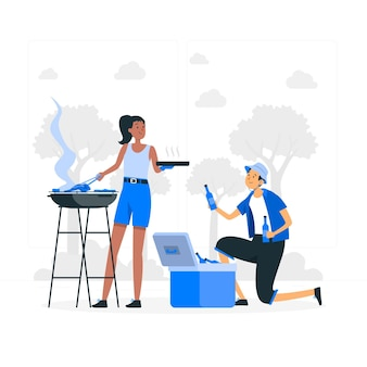 Barbecue concept illustration