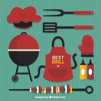 Elemento raccolta barbecue