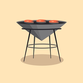 Barbecue or grill barbecue. picnic camping cooking.