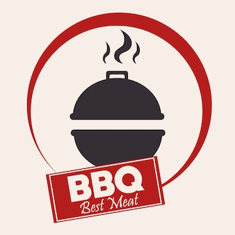 Barbecue grill bbq label