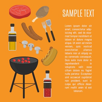 Barbecue grill card