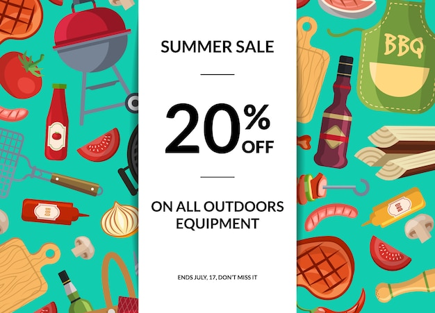 Barbecue or grill elements horizontal sale.