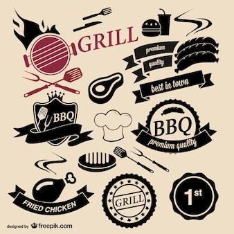 Гриль для барбекю дома логотипы