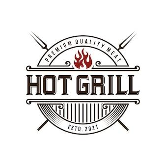 Barbecue grill logo