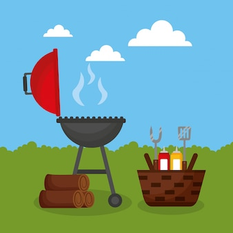 Barbecue grill outdoor