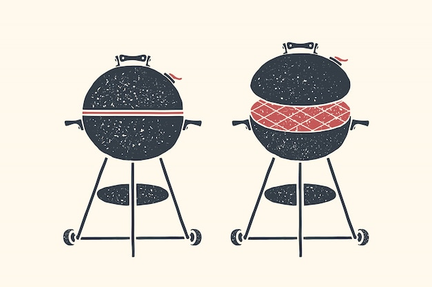 Barbecue, grill. poster bbq, barbecue, grill tools