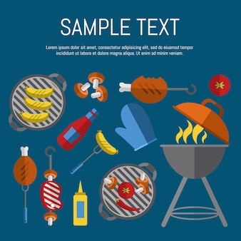 Barbecue grill poster
