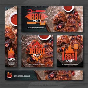 Barbecue invitation set