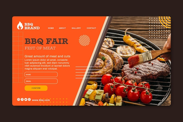 Barbecue landing page template