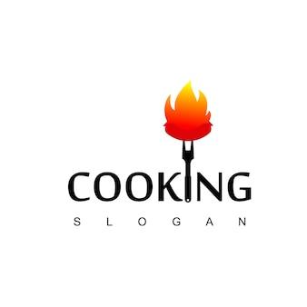 Barbecue logo, burned sausage icon
