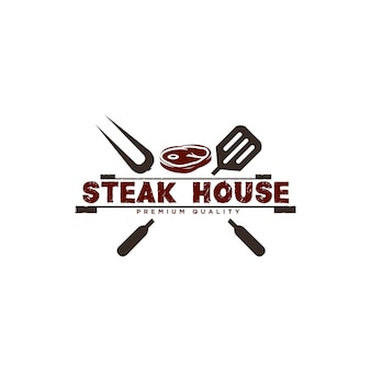 Barbecue logo design illustration