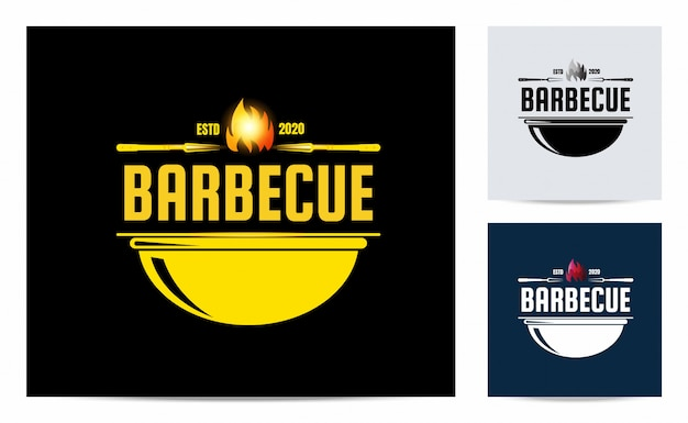 Barbecue logo with vintage concept