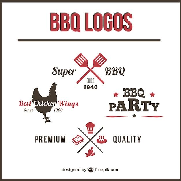 Barbecue logos set