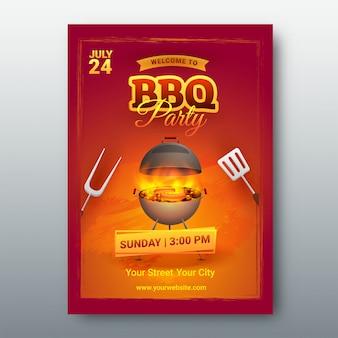 Barbecue menu card or invitation.