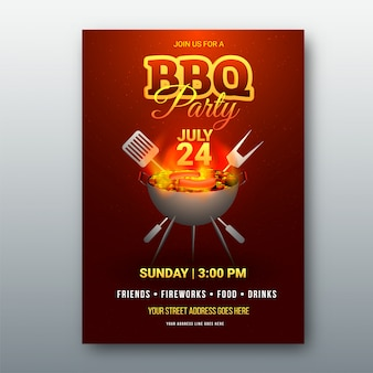 Barbecue menu card or invitation.