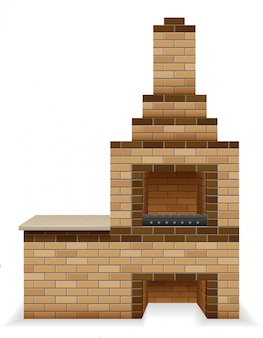 Barbecue oven built of bricks