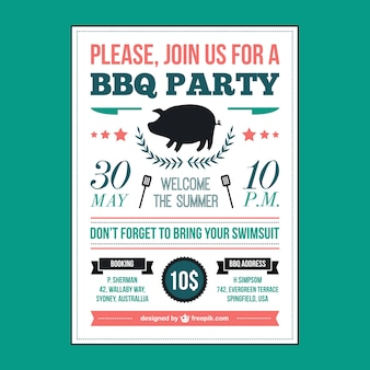 Barbecue picnic poster