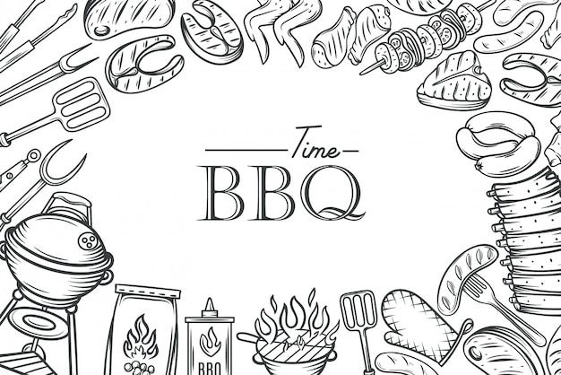 Barbecue poster template