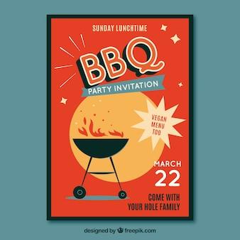 Modello di manifesto barbecue