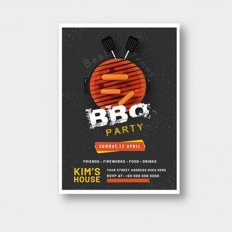 Плакат барбекю