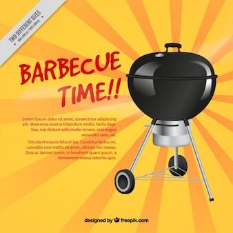 Barbecue su uno sfondo raggera