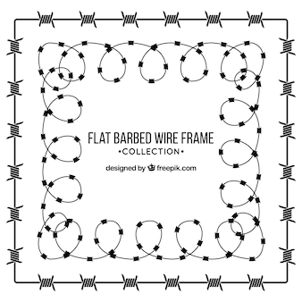 Barbed wire frame design