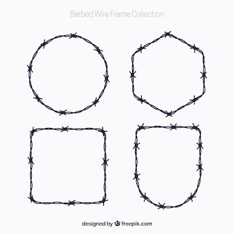 Barbed wire frame pack