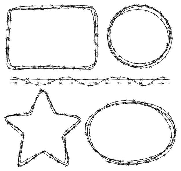 다양한 모양의 철조망
